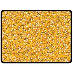 Candy Corn Fleece Blanket (large)  by Valentinaart