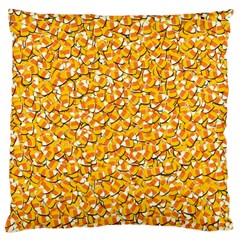 Candy Corn Large Cushion Case (one Side) by Valentinaart
