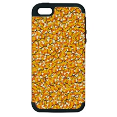 Candy Corn Apple Iphone 5 Hardshell Case (pc+silicone) by Valentinaart