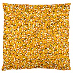 Candy Corn Large Flano Cushion Case (two Sides) by Valentinaart