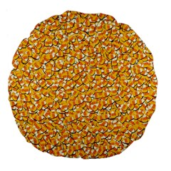 Candy Corn Large 18  Premium Flano Round Cushions by Valentinaart