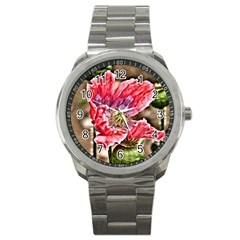 Dreamy Floral 5 Sport Metal Watch by MoreColorsinLife