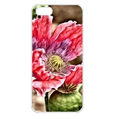 Dreamy Floral 5 Apple Iphone 5 Seamless Case (white) by MoreColorsinLife