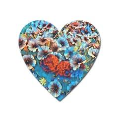 Dreamy Floral 3 Heart Magnet by MoreColorsinLife