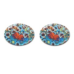 Dreamy Floral 3 Cufflinks (oval) by MoreColorsinLife