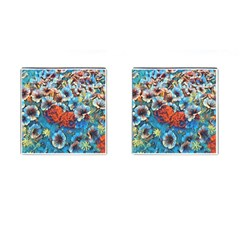 Dreamy Floral 3 Cufflinks (square) by MoreColorsinLife