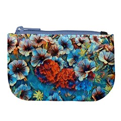 Dreamy Floral 3 Large Coin Purse by MoreColorsinLife