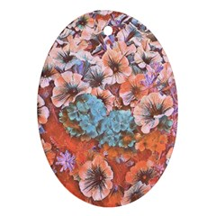 Dreamy Floral 4 Ornament (oval) by MoreColorsinLife