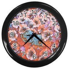 Dreamy Floral 4 Wall Clocks (black) by MoreColorsinLife