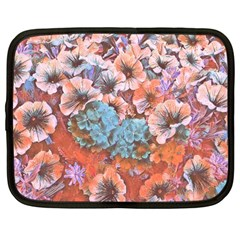 Dreamy Floral 4 Netbook Case (large) by MoreColorsinLife