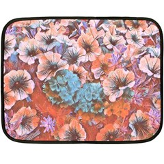 Dreamy Floral 4 Double Sided Fleece Blanket (mini)  by MoreColorsinLife
