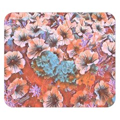 Dreamy Floral 4 Double Sided Flano Blanket (small)  by MoreColorsinLife