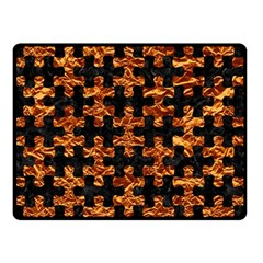 Puzzle1 Black Marble & Copper Foil Double Sided Fleece Blanket (small)  by trendistuff