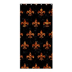 Royal1 Black Marble & Copper Foil (r) Shower Curtain 36  X 72  (stall)  by trendistuff