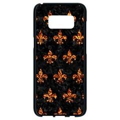 Royal1 Black Marble & Copper Foil (r) Samsung Galaxy S8 Black Seamless Case by trendistuff