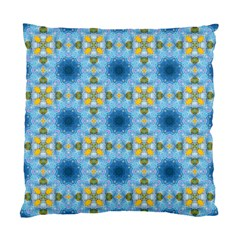 Blue Nice Daisy Flower Ang Yellow Squares Standard Cushion Case (one Side) by MaryIllustrations