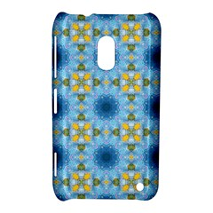 Blue Nice Daisy Flower Ang Yellow Squares Nokia Lumia 620 by MaryIllustrations