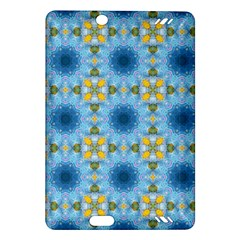 Blue Nice Daisy Flower Ang Yellow Squares Amazon Kindle Fire Hd (2013) Hardshell Case by MaryIllustrations