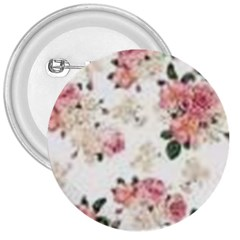 Pink And White Flowers  3  Buttons by MaryIllustrations