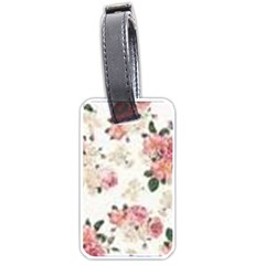 Pink And White Flowers  Luggage Tags (two Sides) by MaryIllustrations