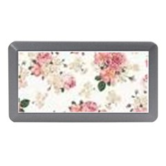 Pink And White Flowers  Memory Card Reader (mini)