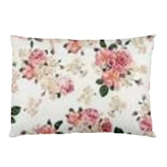 Pink And White Flowers  Pillow Case (two Sides) by MaryIllustrations