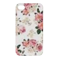 Pink And White Flowers  Apple Iphone 4/4s Premium Hardshell Case by MaryIllustrations