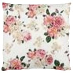 pink and white flowers  Large Cushion Case (Two Sides) Back