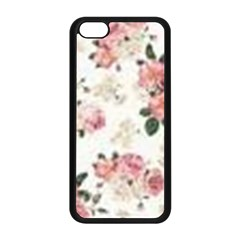 Pink And White Flowers  Apple Iphone 5c Seamless Case (black) by MaryIllustrations