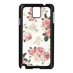 Pink And White Flowers  Samsung Galaxy Note 3 N9005 Case (black) by MaryIllustrations