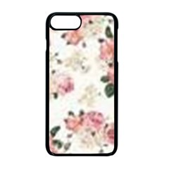 Pink And White Flowers  Apple Iphone 7 Plus Seamless Case (black) by MaryIllustrations