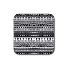 Aztec Influence Pattern Rubber Square Coaster (4 Pack)  by ValentinaDesign