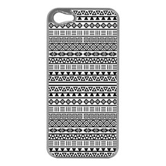 Aztec Influence Pattern Apple Iphone 5 Case (silver) by ValentinaDesign