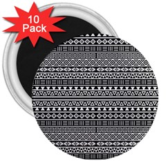 Aztec Influence Pattern 3  Magnets (10 Pack)  by ValentinaDesign