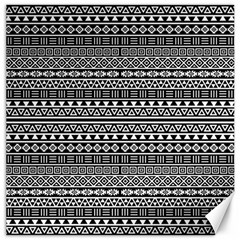 Aztec Influence Pattern Canvas 16  X 16   by ValentinaDesign