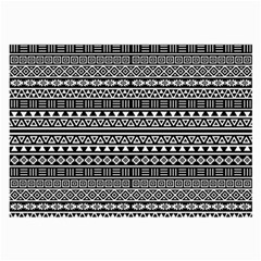Aztec Influence Pattern Large Glasses Cloth (2 Side) by ValentinaDesign