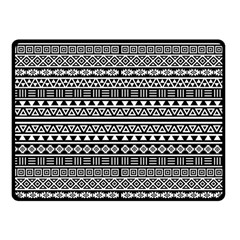 Aztec Influence Pattern Fleece Blanket (small) by ValentinaDesign