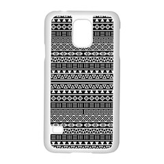 Aztec Influence Pattern Samsung Galaxy S5 Case (white) by ValentinaDesign