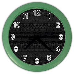 Aztec Influence Pattern Color Wall Clocks by ValentinaDesign