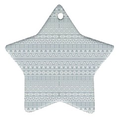 Aztec Influence Pattern Ornament (star) by ValentinaDesign