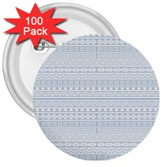 Aztec Influence Pattern 3  Buttons (100 Pack)  by ValentinaDesign