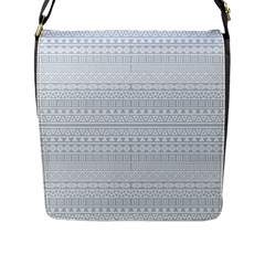 Aztec Influence Pattern Flap Messenger Bag (l)  by ValentinaDesign