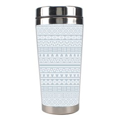 Aztec Influence Pattern Stainless Steel Travel Tumblers by ValentinaDesign