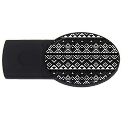 Aztec Influence Pattern Usb Flash Drive Oval (4 Gb) by ValentinaDesign
