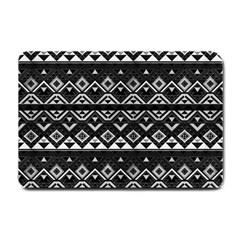 Aztec Influence Pattern Small Doormat  by ValentinaDesign
