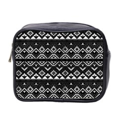 Aztec Influence Pattern Mini Toiletries Bag 2 Side by ValentinaDesign