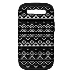 Aztec Influence Pattern Samsung Galaxy S Iii Hardshell Case (pc+silicone) by ValentinaDesign