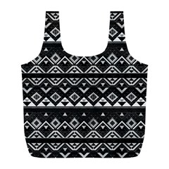 Aztec Influence Pattern Full Print Recycle Bags (l)  by ValentinaDesign