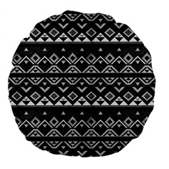 Aztec Influence Pattern Large 18  Premium Flano Round Cushions by ValentinaDesign