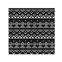 Aztec Influence Pattern Small Satin Scarf (square) by ValentinaDesign